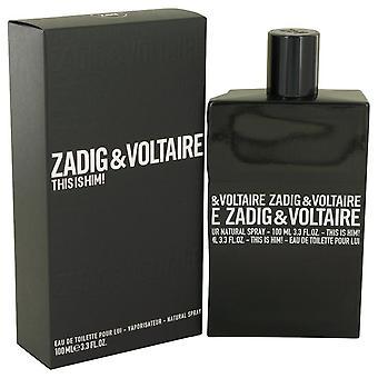 This is him eau de toilette spray by zadig & voltaire 539434 100 ml