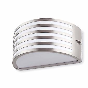 1 Lichte Buitenmuur Licht Matt Nickel IP54, E27