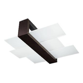 Sollux FENIKS - 2 Light Flush Deckenleuchte Schwarz, E27