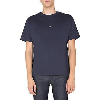 A.p.c. Coeioh26929iak Men's Blue Cotton T-shirt