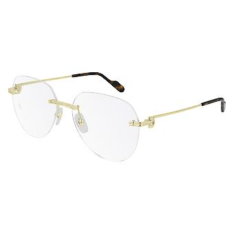 Cartier CT0252O 002 Gold Glasses