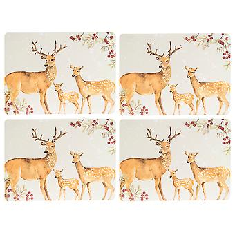 Foxwood Home Winter Lodge Set of 4 Placemats