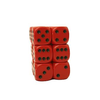 Chessex Opaque 16mm D6 x 12 - Red/black