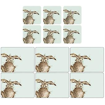 Pimpernel Wrendale Hare Placemats and Coasters Set of 6