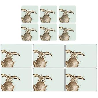 Pimpernel Wrendale Hare Placemats en Coasters Set van 6