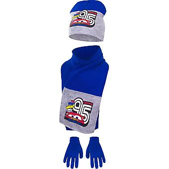 Disney cars boys hat scarf and gloves winter set