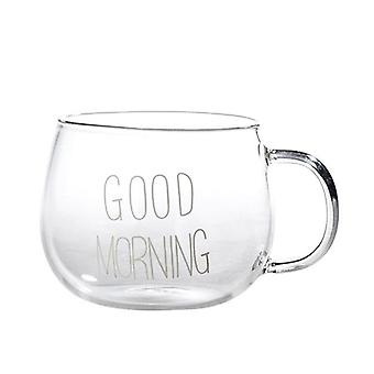 Crystal Transparent Or Glass Mug - Letter Used For Milk Tea, Coffee Cup,