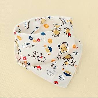 1pcs Enfants infantiles Bébé Unisex Alimentation Salive Serviette- Dribble Triangle Bandana