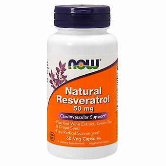 Now Foods Natural Resveratrol, 60 Vcaps