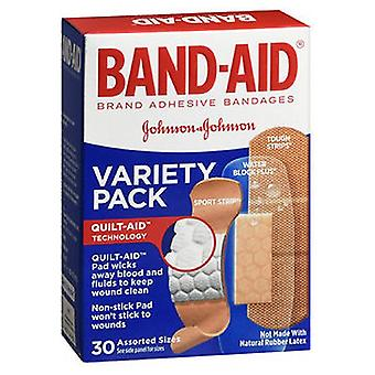 Band-Aid Adhesive Bandages Variety Pack Assorted Sizes, 30 each