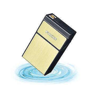 2 In 1 Cigarette Case Usb Rechargeable Lighter For Smoking Flameless Electronic