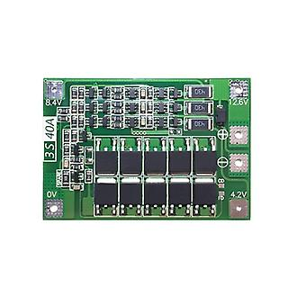 18650 Lithium Battery Protection Board With Balanced Version For Drill 40a