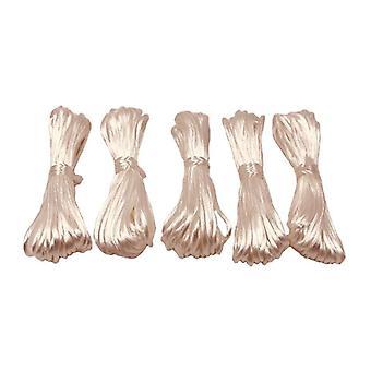 Mjukt satinrep för diy smycken tillverkning, pärlor, halsband hänge