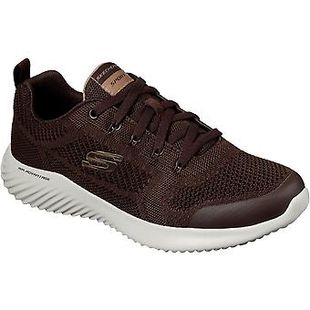Skechers Mens Bounder Rinstet Lace Up Memory Foam Trainers