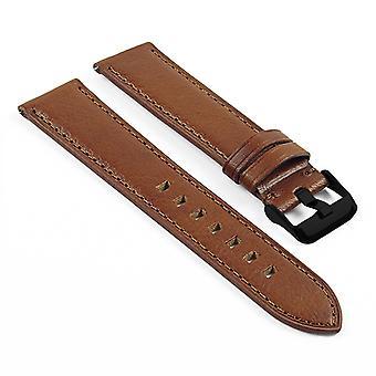 Strapsco dassari swl4 vintage italian leather quick release strap w/ matte black buckle