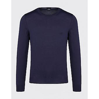 Hugo Boss Botto-l Cotton Slim Fit Navy Sweater