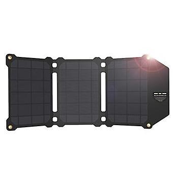 オールパワーズ AP-ES-004-BLA ソーラーパワーチャージャー21W(1 x USB 1 x USB-C出力付き)