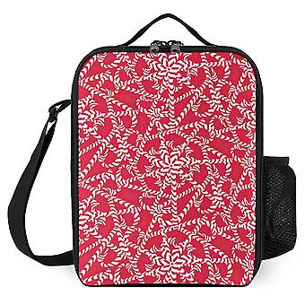 Candy Cane Flower Pattern Stylish Lunch Box