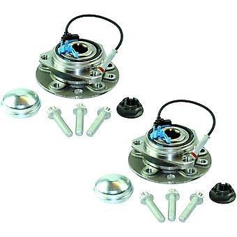 Front Wheel Hubs & Bearings 5 Stud & Abs Sensors Pair For Vauxhall Astra H, Zafira B