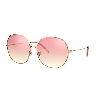Oliver Peoples Darlin OV1280S 5037/H9 Rose Gold/Soft Pink Gradient Mirror Sunglasses
