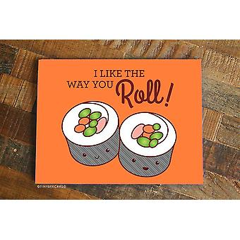 Sushi Love Or Friendship Card