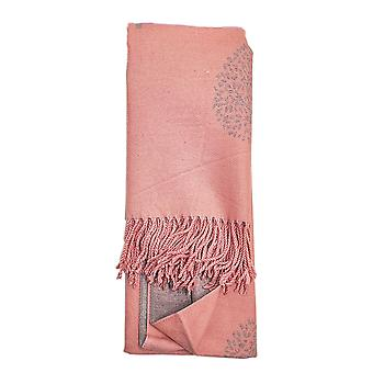 Reversible Tree of Life Baby Pink Ladies Scarf by Butterfly Fashion London
