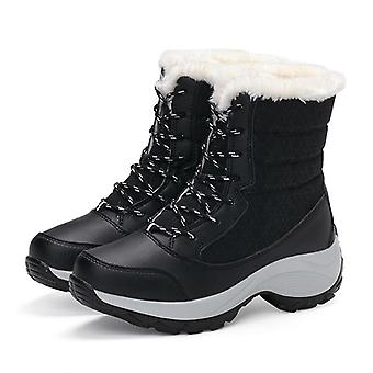 Winter Waterproof Snow Boots Platform Keep Warm Ankle Boots With Thick Fur