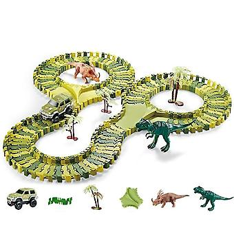Dinosaur Railway Car Racing Track Toy Set