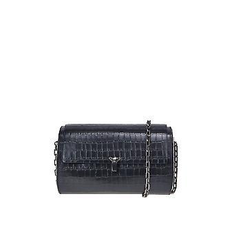 The Volon Ezgl221006 Women's Black Leather Shoulder Bag