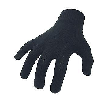 Fiets het zwart katoenen binnenhandschoenen one size