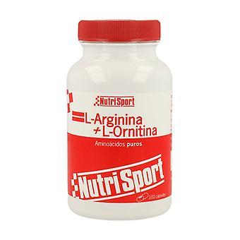 L-Arginine L-Ornithine 100 capsules of 500mg
