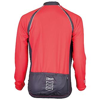 Eigo Logic Mens Long Sleeve Cycling Jersey Red / Black