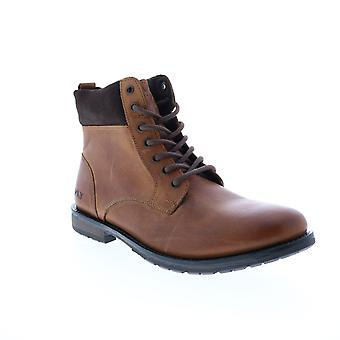 Andrew Marc Kent  Mens Brown Leather Casual Dress Boots