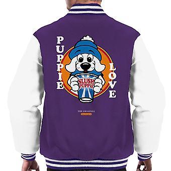 Slush Puppie Love Cartoon Men's Varsity Jacket