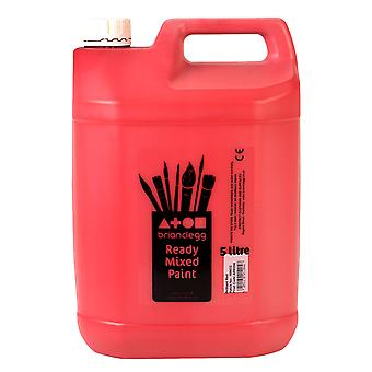 Brian Clegg Ready-mix Paint 5 Litre - Red