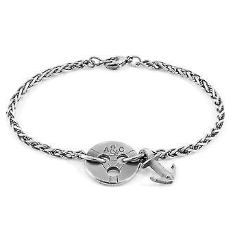ANCHOR & CREW Lerwick Liegesilber Kette Armband