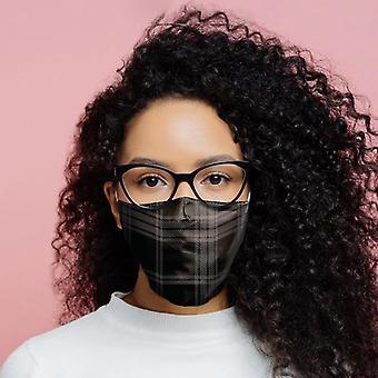 Cobertura facial reutilizável cinza-preta - grande