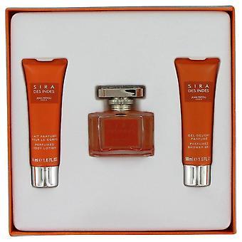 Sira Des Indes Gift Set By Jean Patou 1.6 oz Eau De Parfum Spray + 1.6 oz Body Lotion + 1.6 oz Shower Gel