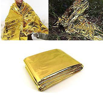 IPRee 140x210CM Emergency Thermal Survival Blanket Waterproof Foil Rescue First Aid Mat