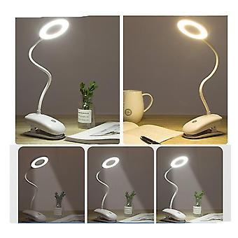 Usb Rechargeable Led Desk Lamp, Flexible Touch Dimming Table Clip On Lamps