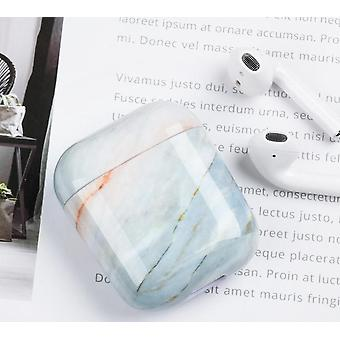 Case For Airpods, Marble Pattern Hard Earphones Charging Box Case