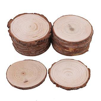 20Piece Natural Unfinished Wood Slices Wedding Craft Handmade DIY 7-8cm