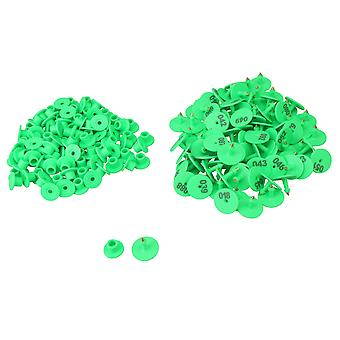 100piece Round Poultry Supplies 1-100 Number Goat Sheep Pig Tag Green