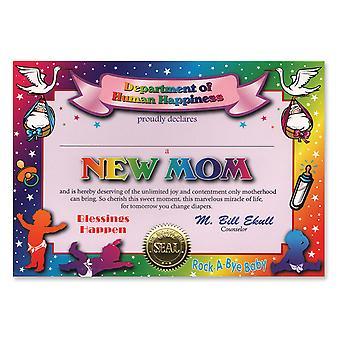 Nuevo certificado de mamá (pack de 6)