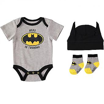 "Batman ""Hero In Training"" 3-teilige Body Set"