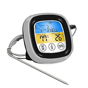 Digital Meat Thermometer With Colorful Touching Lcd  Screen -20-300℃ Bbq Grill Monitor Timer