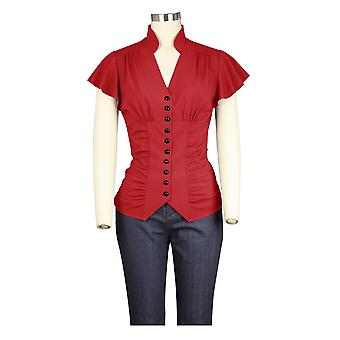 Chic Star 1940s Blouse In Red