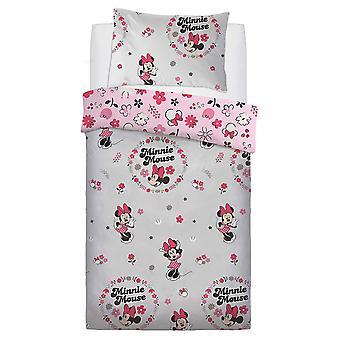 Minnie Mouse Floral Single Duvet Cover Set