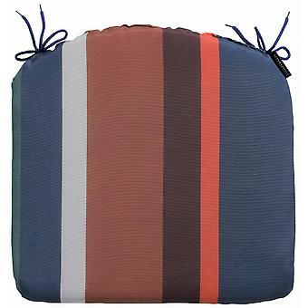 sitzkissen Stripe 46 x 48 cm Baumwolle/Polyester blau