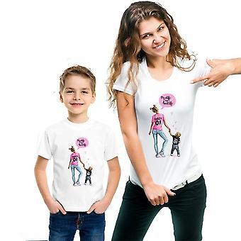 Abbigliamento abbinato in famiglia, t-shirt per donna e figlia
